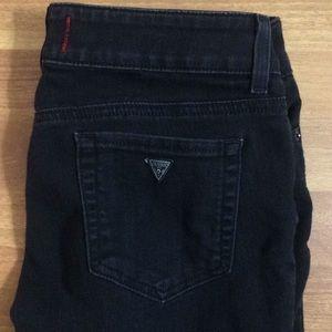 Guess jeans medium rise skinny good stretch black